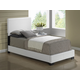Global Furniture 8103 Twin PU Bed in White