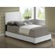 Global Furniture 8103 Full PU Bed in White