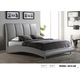 Global Furniture 8272 King PU Bed in Gray