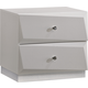 Global Furniture Barcelona 2 Drawer Nightstand in Silver Line