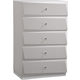 Global Furniture Barcelona 5 Drawer Chest in Silver Line