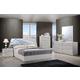 Global Furniture Barcelona 4-Piece Platform Bedroom Set in Silver Line