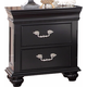 New Classic Furniture Jaquelyn Nightstand in Black B8650-040