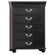New Classic Furniture Jaquelyn Chest in Black B8650-070