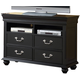 New Classic Furniture Jaquelyn Media Console in Black B8650-078