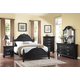 New Classic Furniture Jaquelyn Bedroom Set in Black B8650-SET