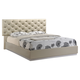 Global Furniture Grace Upholstered King Bed in Champagne/Zebra Cherry