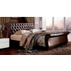 ESF Furniture 157 Jennifer King Sleigh Bed in Brown