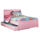 Bronett Full Panel Bed with Trundle Under Bed Storage in Pink