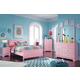 Bronett 6-Piece Panel Bedroom Set in Pink