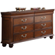 New Classic Furniture Jaquelyn Dresser in Heritage Cherry B8651-050