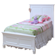 New Classic Tamarack Twin Panel Bed in White