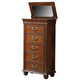 New Classic Furniture Jaquelyn Lift Top Lingerie Chest in Heritage Cherry B8651-074