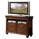 New Classic Furniture Jaquelyn Media Console in Heritage Cherry B8651-078
