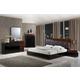 Global Furniture Lexi 4-Piece Upholstered Bedroom Set in Black/Wenge