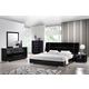 Global Furniture Hailey 4-Piece Platform Bedroom Set in Black