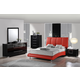 Global Furniture Hailey/8272 4-Piece Bedroom Set in Red/Black