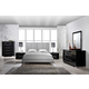 Global Furniture Hailey/8272 4-Piece Bedroom Set in Gray/Black
