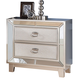 New Classic Furniture Stefano Nightstand in Silver B1492-040