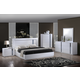 Global Furniture Jody 4-Piece Platform Bedroom Set in White