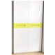 ESF Furniture H512 2-Door Wardrobe in White