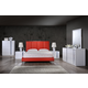 Global Furniture Jody/8272 4-Piece Bedroom Set in Red/White