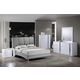 Global Furniture Jody/8272 4-Piece Bedroom Set in Gray/White