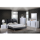 Global Furniture Jody/8272 4-Piece Platform Bedroom Set in Black/White