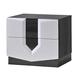 Global Furniture Hudson 2 Drawer Nightstand in Zebra Grey/White