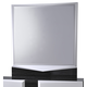 Global Furniture Hudson Mirror in Zebra Grey/White