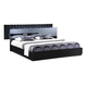 Global Furniture Manhattan Queen Platform  Bed in Black