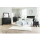 Braflin 4-Piece Sleigh Headboard Bedroom Set in Black