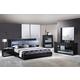 Global Furniture Manhattan 4-Piece Platform Bedroom Set in Black