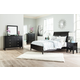 Braflin 4-Piece Sleigh Bedroom Set in Black