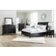 Braflin 4-Piece Sleigh Bedroom Set with Under Bed Drawers in Black