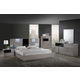Global Furniture Bianca 4-Piece Platform Bedroom Set in Gray/Black