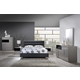 Global Furniture Bianca/8284 4-Piece Platform Bedroom Set in Gray/Black