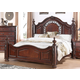New Classic Furniture Isabelli Eastern King Bed in Claret