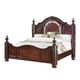 New Classic Furniture Isabelli California King Bed in Claret