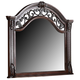 New Classic Furniture Isabelli Mirror in Claret B5870-060