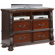 New Classic Furniture Isabelli Media Console in Claret B5870-078