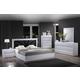 Global Furniture Bailey 4-Piece Platform Bedroom Set in White