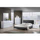 Global Furniture Bailey/8284 4-Piece Platform Bedroom Set in Black/White