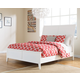Langlor California King Sleigh Bed in White