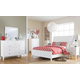 Langlor 4-Piece Sleigh Bedroom Set in White