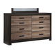 Harlinton Dresser in Warm Gray/Charcoal B325-31