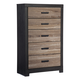 Harlinton Five Drawer Chest in Warm Gray/Charcoal B325-46