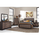 Harlinton 4-Piece Panel Bedroom Set in Warm Gray/Charcoal