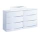 Global Furniture Aurora 6 Drawer Dresser in White