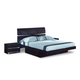 Global Furniture Aurora Queen Platform Bed in Wenge